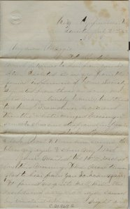 First page of Baird's letter, HCP collection.